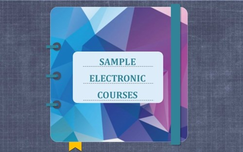 E-learning sample courses